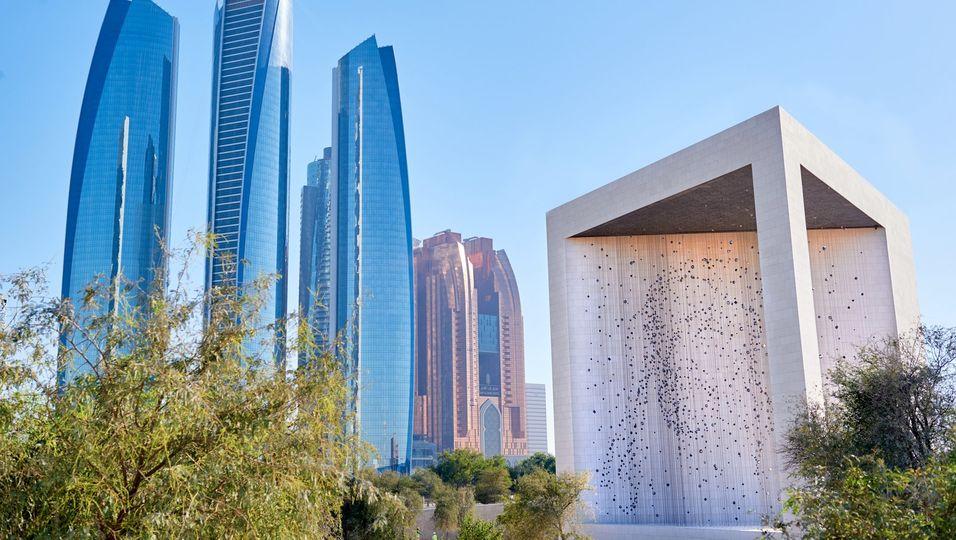 Das neue Founder's Memorial in Abu Dhabi erinnert an den verstorbenen Herrscher des Emirats, Scheich Zayed bin Sultan Al Nahyan. Foto: