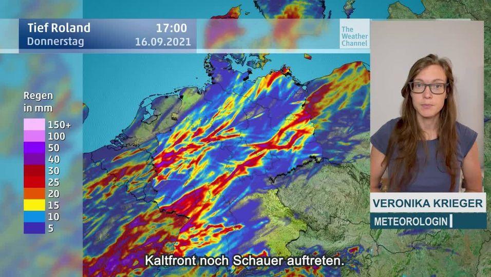 Tief Roland bringt den Starkregen zurück: Lokal können bis zu 50 Liter zusammenkommen