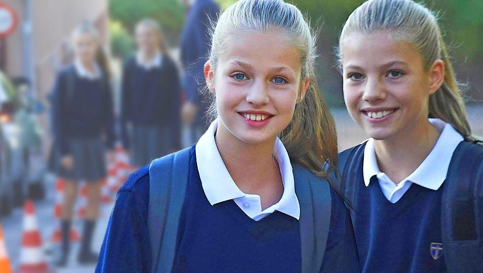 Erster Schultag – und die beiden sind prächtig gestimmt