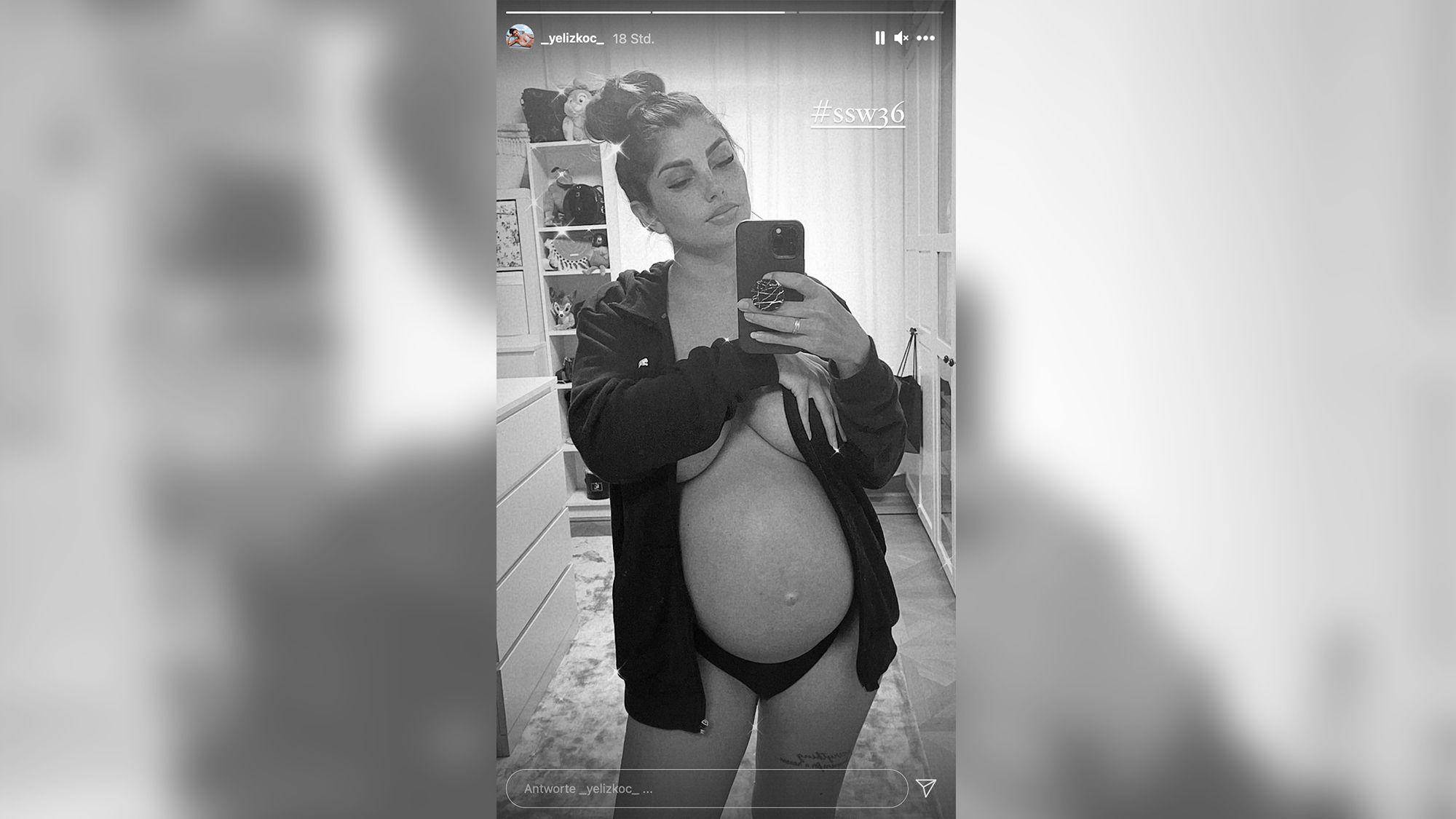 Yeliz Koc: Guck mal, Jimi! Sie setzt ihren Babybauch in Szene – oben ohne