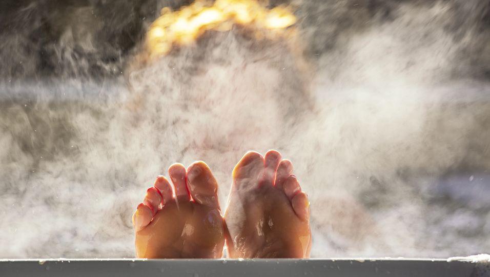 Heiße Badewanne