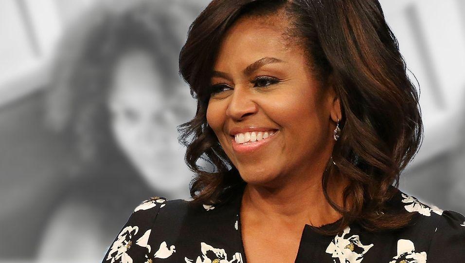 Die einstige First Lady mal anders: ungeschminkt und mit Naturlocken!