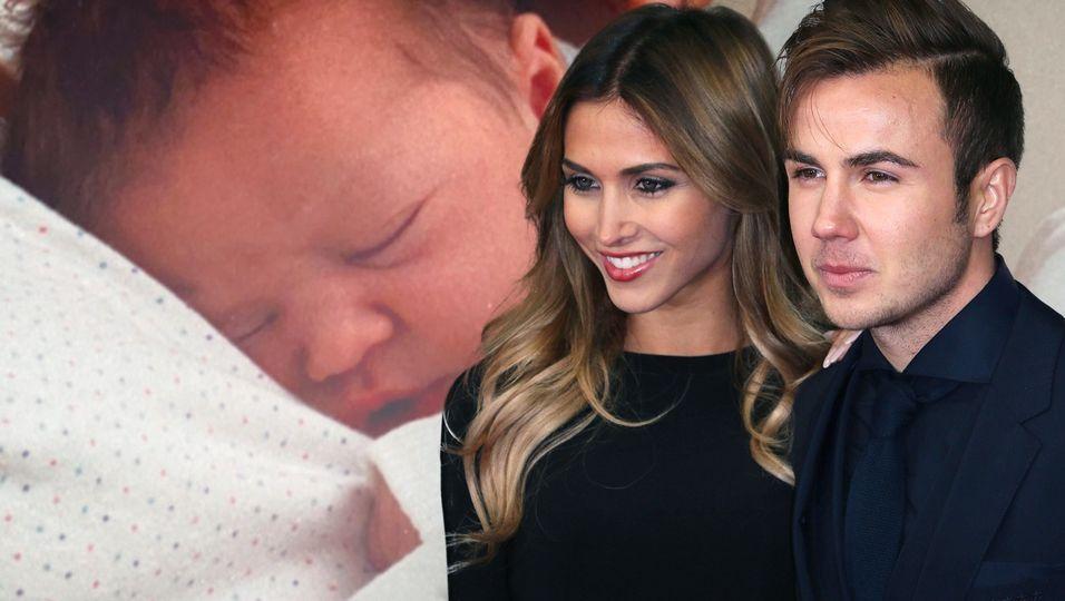 """""""Er hat meine Haare"""": Endlich zeigt sie uns Baby Rome"""