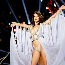 Bella Hadid walks the runway during the 2017 Victoria's Secret Fashion Show In Shanghai at Mercedes-Benz Arena on November 20, 2017 in Shanghai, China