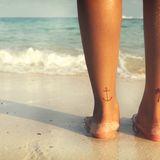 Tattoos am Bein