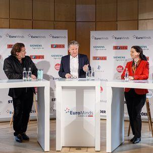 Diskussion auf dem Wirtschaftsgipfel EuroMinds 2020