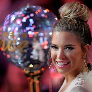 Presenter Sylvie Meis looks on during the 5th show of the television competition 'Let's Dance' at Coloneum on April 15, 2016 in Cologne, Germany.