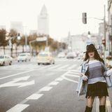 Fashion Girl auf der Straße