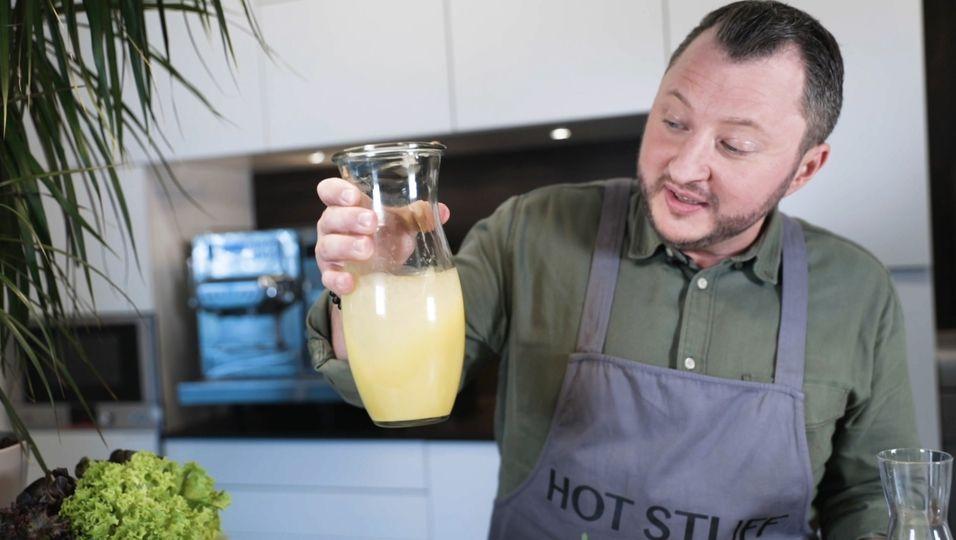 Sebastian Lege: Salatdressing mit Fruchtsaft