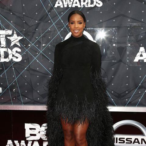 BET Awards - Kelly Rowland schwarzes Kleid