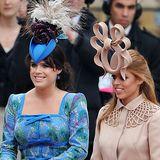 newsline, royale Hochzeit, schönste Hüte,  Princess Eugenie of York (L) and Princess Beatrice of York