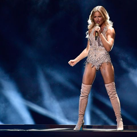 Helene Fischer performs on stage during the Bambi Awards 2017 show at Stage Theater on November 16, 2017 in Berlin, Germany
