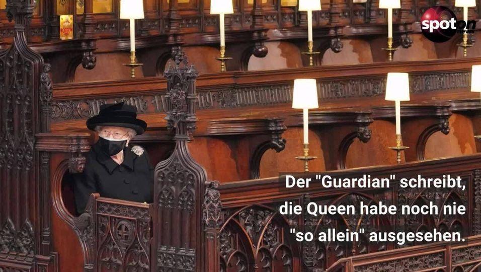 Prinz Philips Beerdigung: So einsam trauerte die Queen