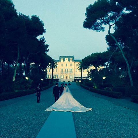 Der strahlendste Platz an der Französischen Riviera: Im Hotel du Cap-Eden-Roc an der Côte d'Azur fand die Trauung statt.