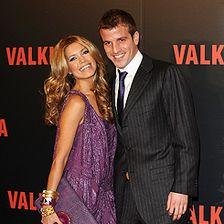 Rafael Van der Vaart and his wife Sylvie