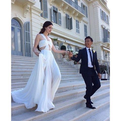 Designed wurde das Kleid von ihrem Freund Prabal Gurung.