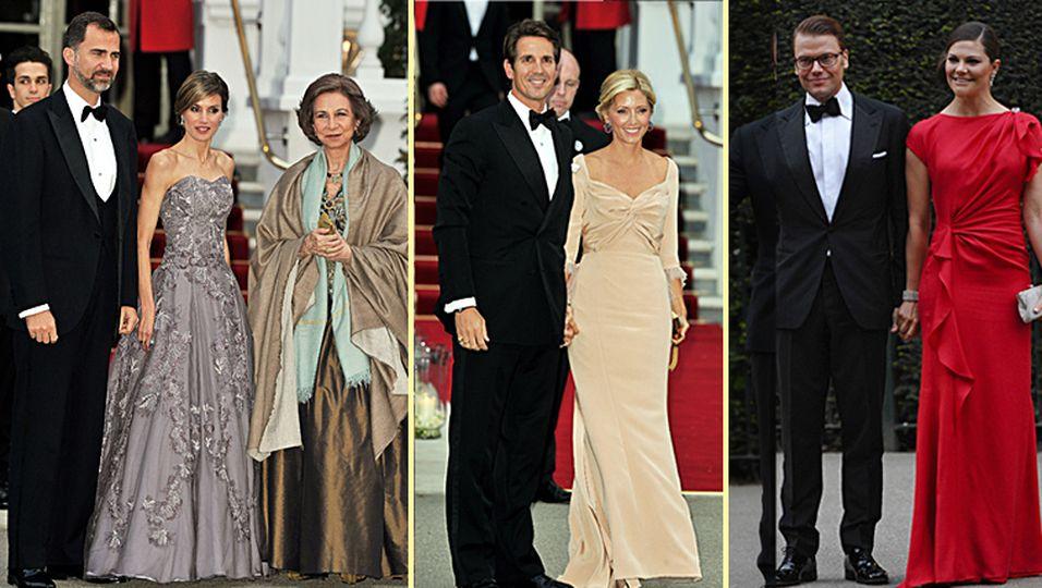gala dinner, letizia, queen, felipe, victoria, daniel, william, kate