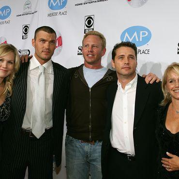 Jennie Garth, Brian Austin Green, Ian Ziering, Jason Priestley und Gabrielle Carteris