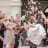 Hochzeit-Brautpaar-Gäste