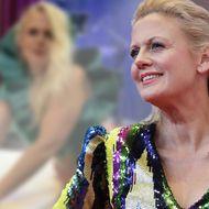 Barbara Schöneberger - Wilder Mustermix: Dieses Kleid ist gewöhnungsbedürftig