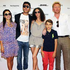Boris Becker, Lilly, Elias Balthasar und Noah, Rafaela