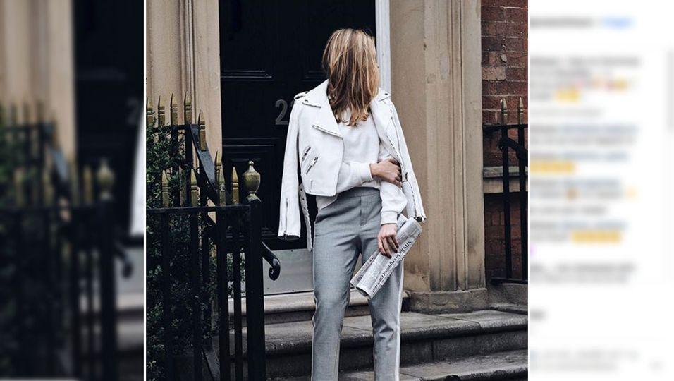 Trend weißes Leder