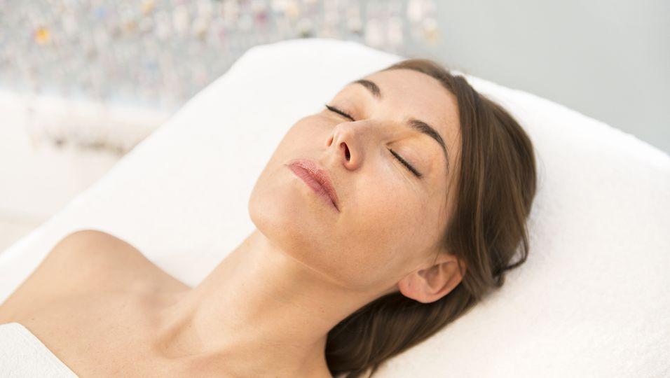 Frau AntiAging Entspannung