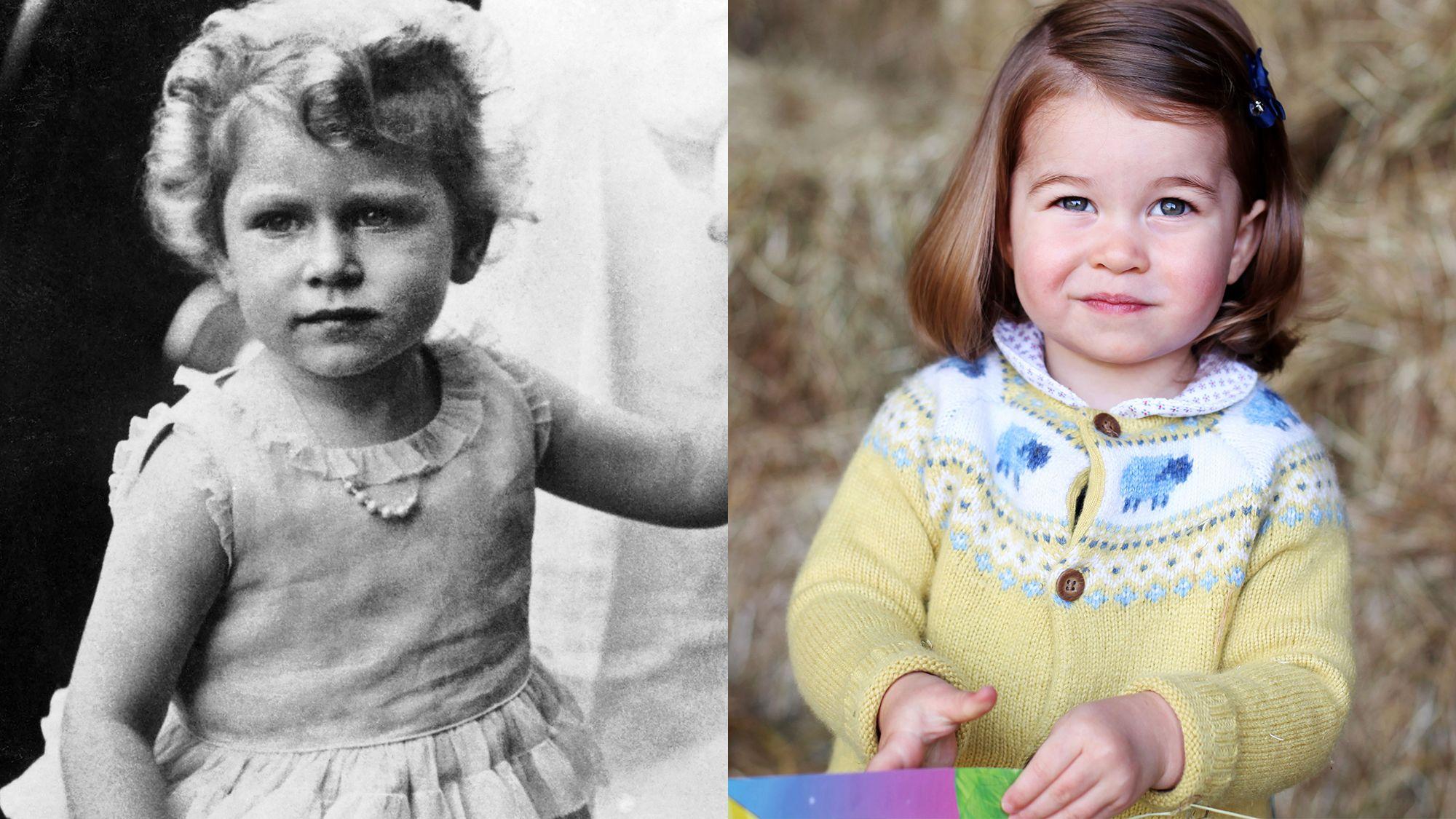 Queen Elizabeth II und Charlotte