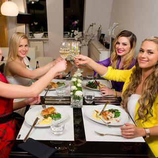 """Die ehemaligen """"Bachelor""""-Kandidatinnen Katja, Angelina, Daniela und Jessica (v.l.n.r.)"""
