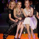 Sonja Kiefer, Regina Halmich und Monica Ivancan (v.l.) amüsierten sich bestens auf der Party beim Tribute to Bambi.