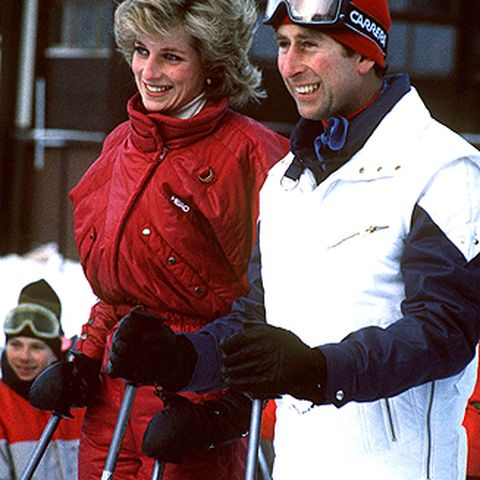 Die sportliche Diana liebt Skifahren: 1985 urlaubt sie mit Charles in Liechtenstein.