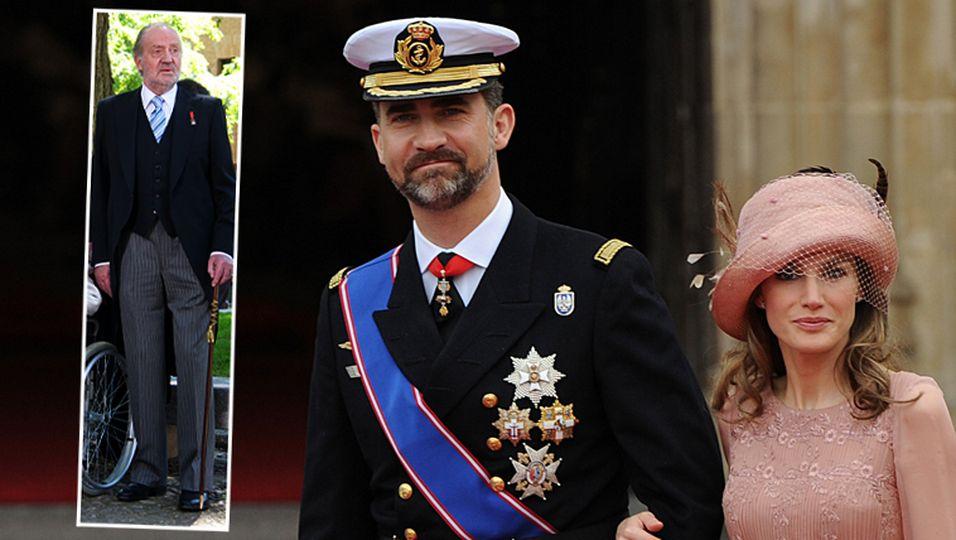 Prinz Felipe, Prinzessin Letizia, König Juan Carlos von Spanien
