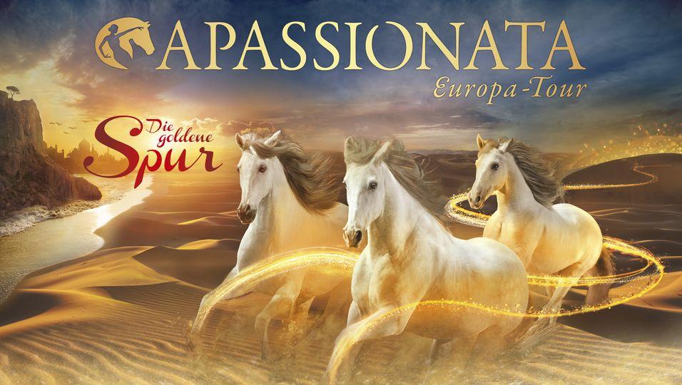 """Ab November geht Apassionata mit dem neuen Programm """"Die goldene Spur"""" auf Tour."""