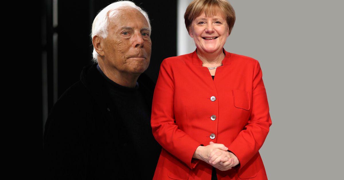 Angela Merkel: Das sagt Modelegende Giorgio Armani über ihren Kleidungsstil