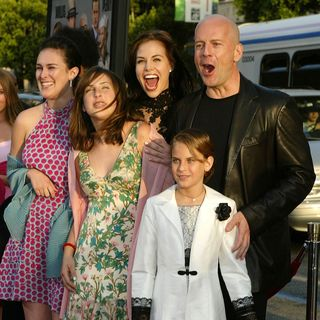 Bruce Willis, Demi Moore, Rumer, Tallulah, Scout