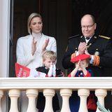 Charlene von Monaco, Albert II von Monaco und die Kinder Jacques und Gabriella