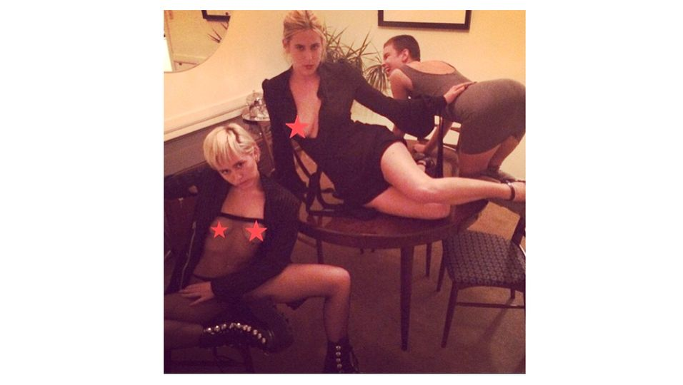 Demi Moore, Bruce Willis, Miley Cyrus