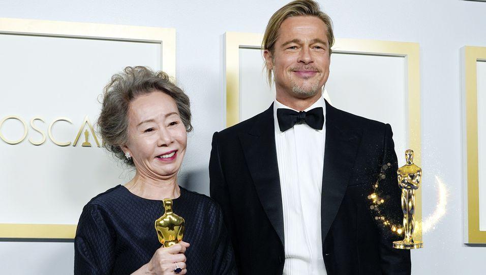 """""""Mr. Brad Pitt... endlich"""": Oscar-Gewinnerin Yuh-Jung Youn gewann sein Herz"""