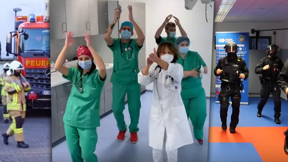 """Jerusalema-Challenge"" im Krankenhaus."