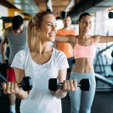 Fitnessstudio Frau