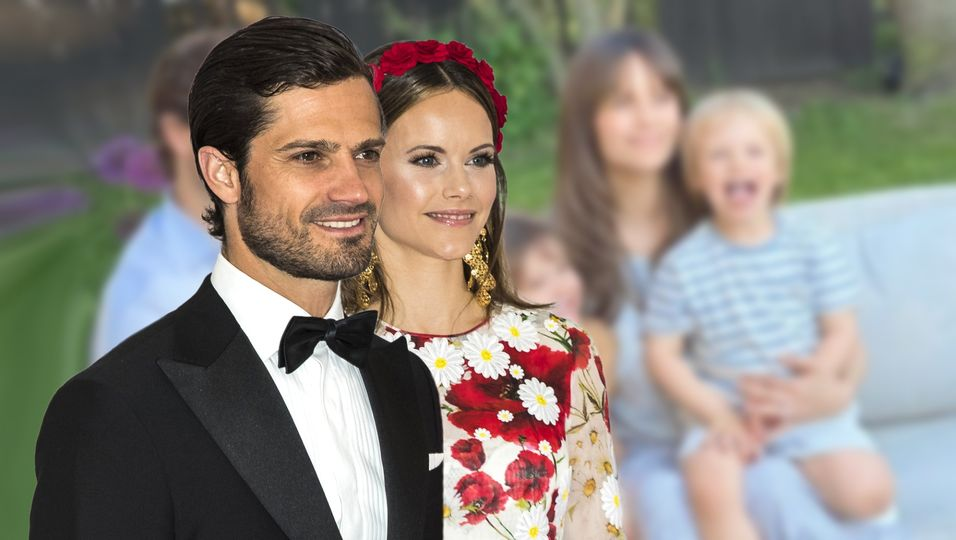 Glück pur: erstes Familienfoto zu fünft