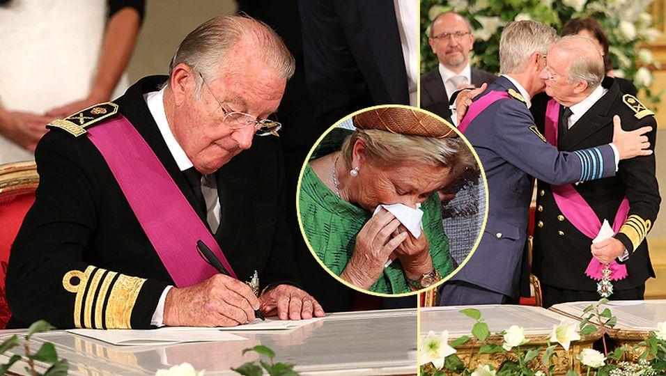 König Albert II.: Hier dankt der alte König ab!