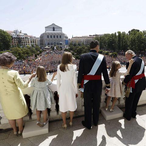 Krönung Letizia und Felipe von Spanien