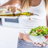 Öl-Salat-Frau