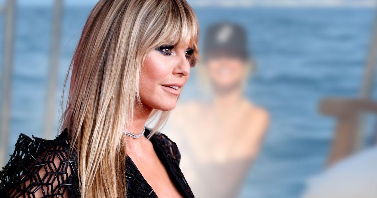 Heidi Klum: Sexy Urlaubsfoto: Halbnackt kommt sie aus dem Meer