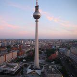 Sicht auf den Alexanderplatz mit dem Berliner Fernsehturm