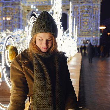 Frau mit Wintermode