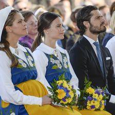 Prinzessin Madeleine von Schweden in Tracht am Nationalfeiertag