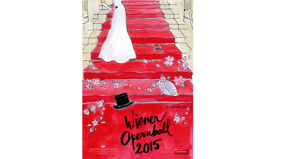 Die Münchnerin Kera Till hat das Plakat für den Wiener Opernball 2015 illustriert.