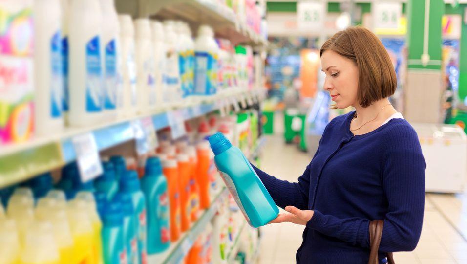 Waschmittel-Frau